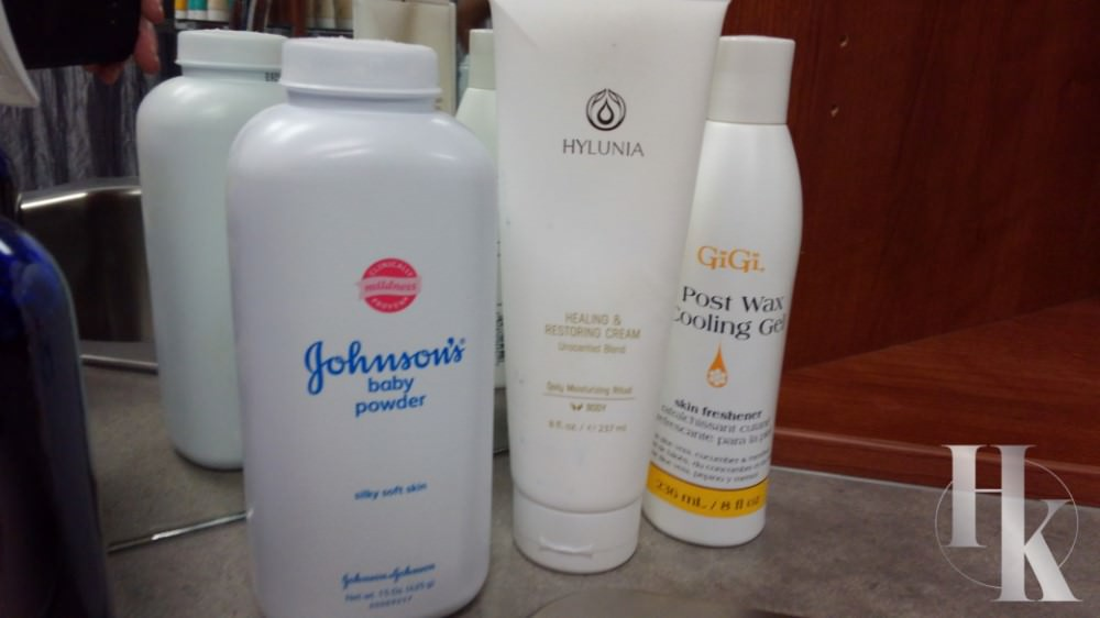 Products Used During Wax Appointment