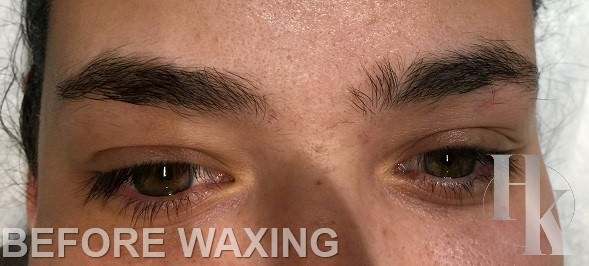 Eye Brow Waxing Austin (before)