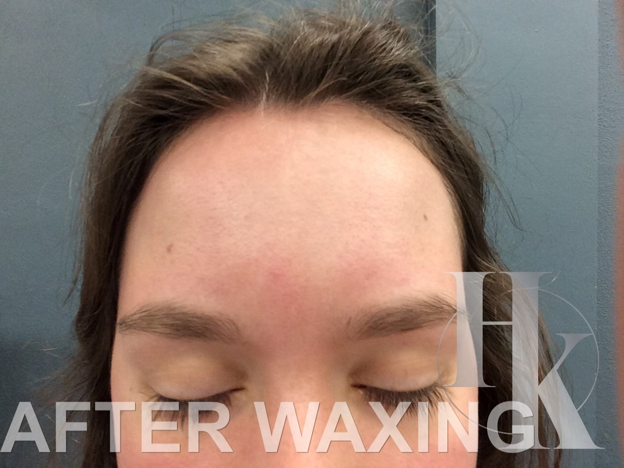 Women's Eye Brow Waxing (after)