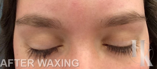 Women's Eye Brow Wax Austin (after)