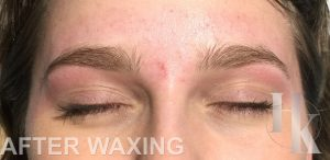 Eyebrow Waxing (after)