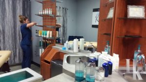 Clean And Sanitary Wax Room